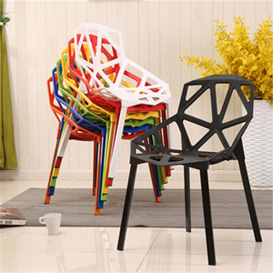Hot sale modern leisure PP plastic chair stacking dining chair dining room furniture supplier
