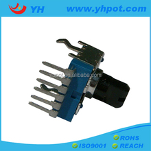 jiangsu 12mm remote control 6 pin rotary a503 potentiometer with plastic shaft