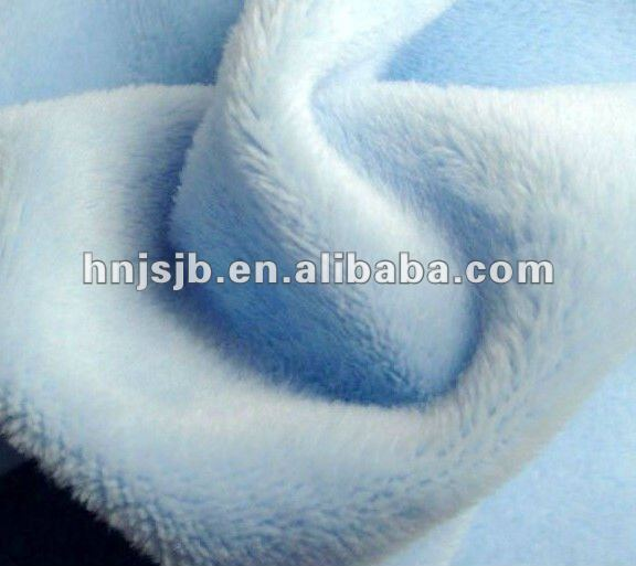 polyester plush fabric/ fleece fabric material / curtain fabric