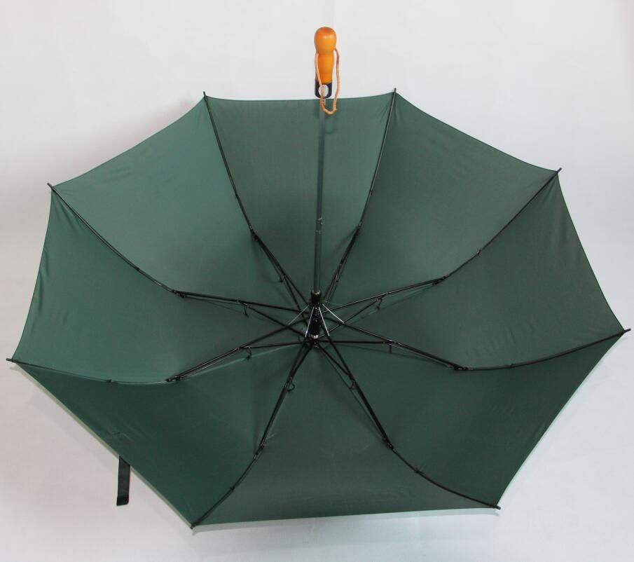 Large 27 inches 2 fold golf umbrella supplier in China