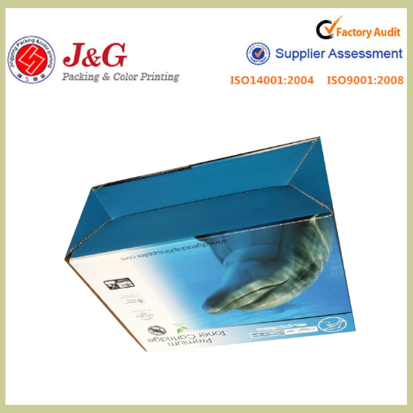 Full color printing double wall corrugated cardboard