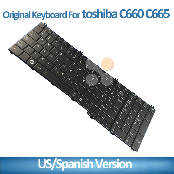 Genuine New For Toshiba C650 C660 C660D C665 Laptop keyboard Layout US&RU