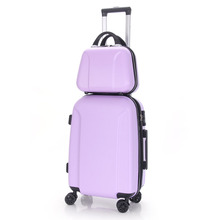 2 pcs ABS pc luggage case special trolley bag traveling trolley luggage beautiful travel luggage sets