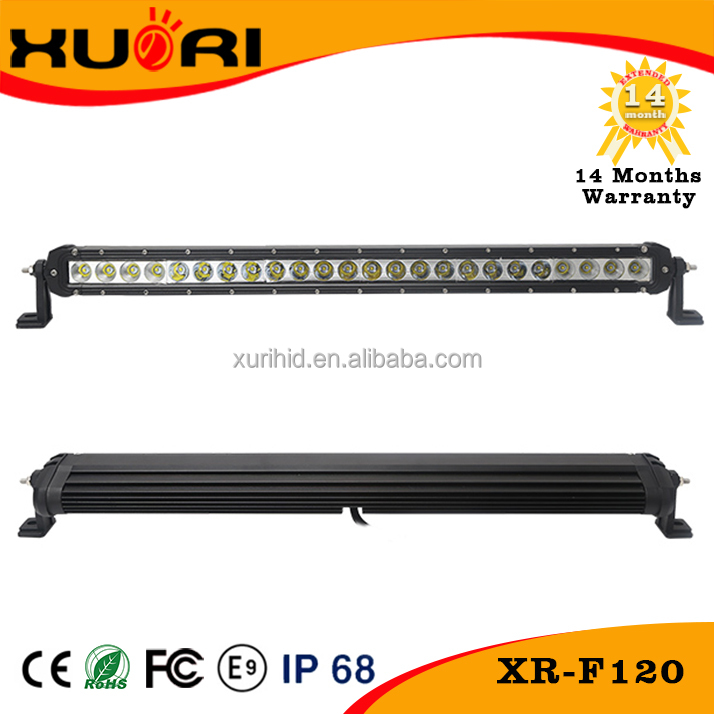 120W LED driving light bar auto led work lights for truck boat off road ambulance