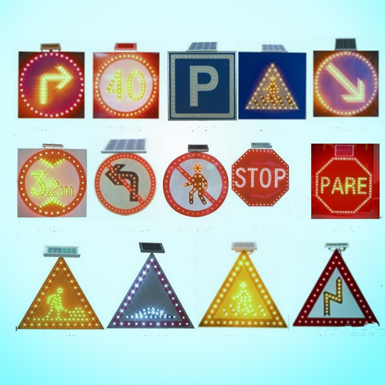 LED Safety solar Slow Sign