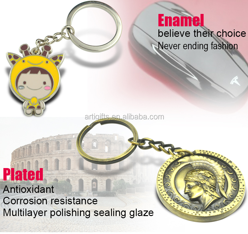 Fashionable metal promotion key chain