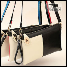 B50111 2013 new sweet Europe and the big envelope one shoulder messenger leather clutch bag