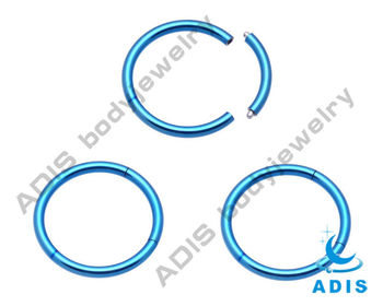 Anodized surgical steel segment ring piercings supplier