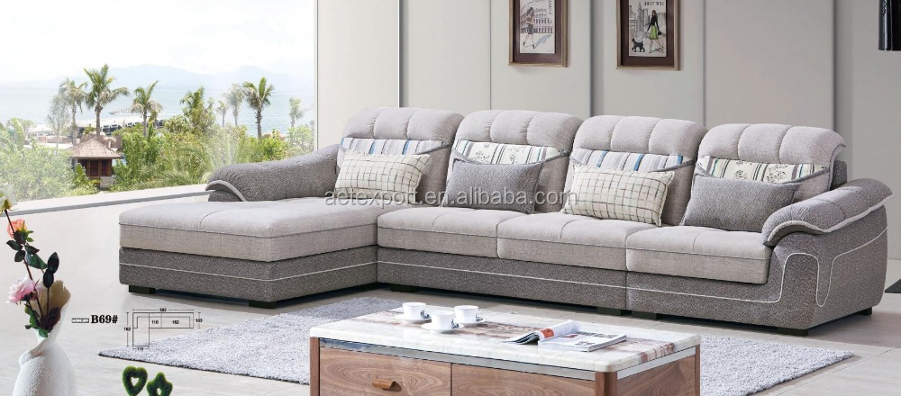 grey simple living room sofa sets fabric l shape sofa buy fabric l