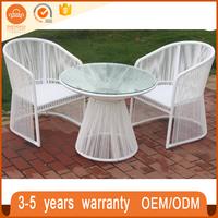 Superior Quality India Style White Garden Set Rattan Indoor Furniture