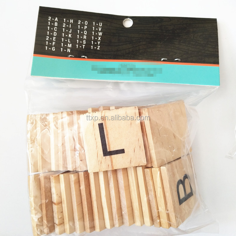NEW Scrabble Letters - Wood Pieces - Great for Crafts, Pendants, Spelling