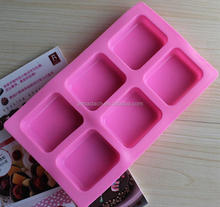 6 Cavities Rectangular handmade Silicone Soap Mould