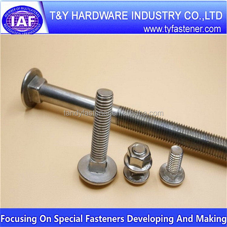 High density First Grade gi carriage bolt and nut