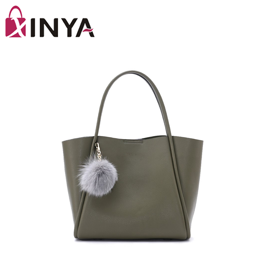 High quality vintage leather laptop tote bag for women