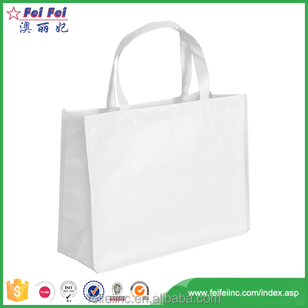 Wholesale Durable Shopping PP Woven Packaging White Bag