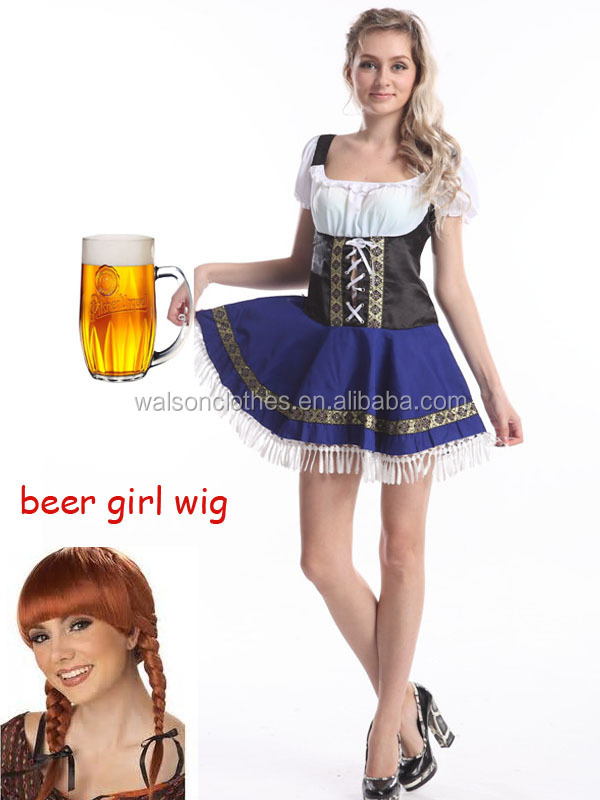 Sexy German Beer Girl Bar Maid Fancy Dress Costume