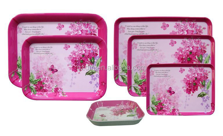 plastic tebleware square / rectangle food tray melamine