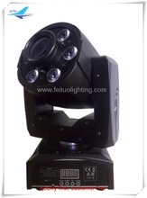mini moving head spot effect 30w led moving head with 6x12w led wash