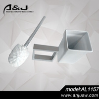 Aluminum Material Toilet Brush Holder Good Quality Bathroom Wall Mounted Fittings Toilet Brush Holder