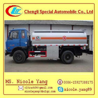 12000 - 15000L DONGFENG 4X2 Fuel Tank Trucks dongfeng used oil tanker truck for sale