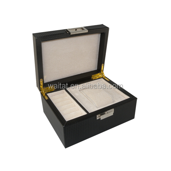 Lady Wrapped PU Cosmetic Wood Box