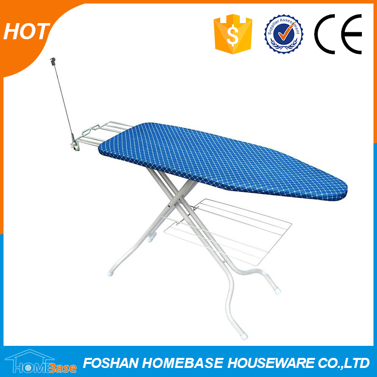 Big size folding mesh top iron board with antenna , wire iron rest and clothes rack