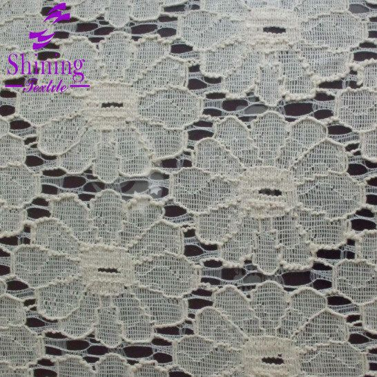 150cm Cotton Nylon London Lace Fabric For Garment