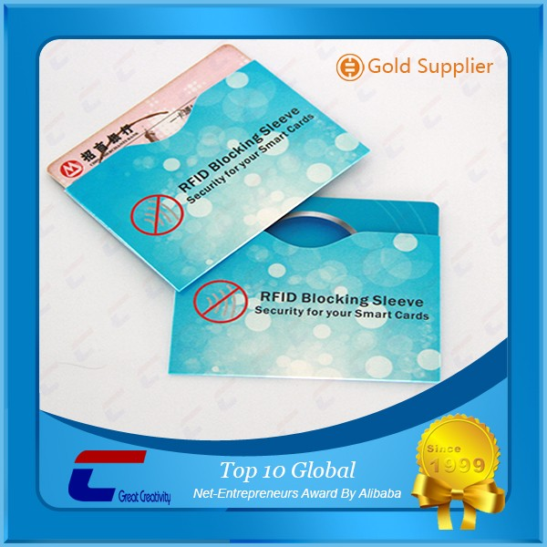 Magnetic stripe card blocking sleeves RFID shielding card holder custom trading card sleeve