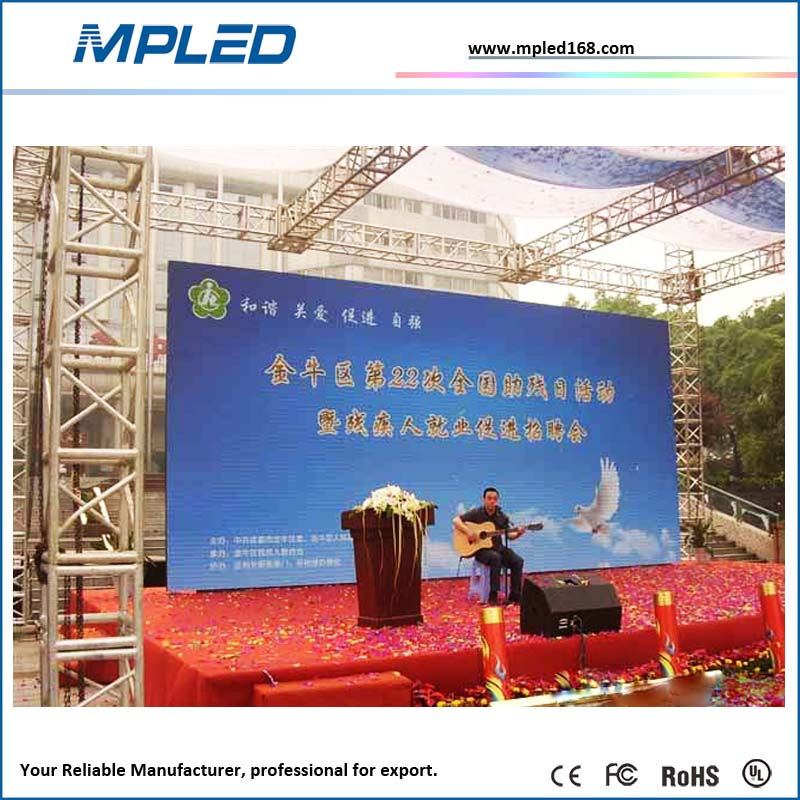 HD Video LED p6/p8/p10 outdoor full color led display para remolque