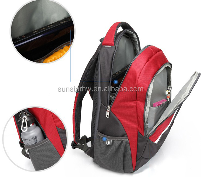 high quality practical many pockets 15 inch laptop backpack