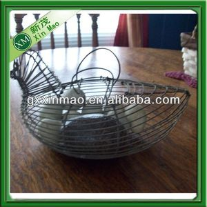 chicken shape wire chicken egg storage basket