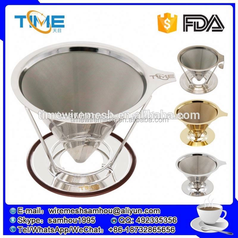 Hot amazon sellers metal coffee dripper cold brewed coffee filter micron with FDA certificat