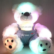 colorful shining led light Teddy bear toys /Colorful Change plush bear