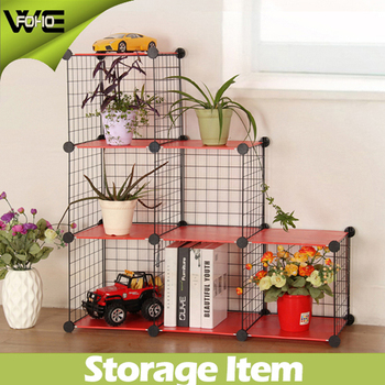 DIY Multilayer multiple grid storage cabinet, wire storage cube metal rack garden flower shelf rack kids storage cabinets