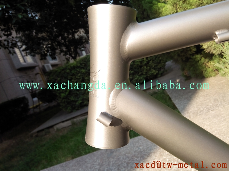 Titanium road bike frame road racing bike with integrated head tube made 54-58cm size titanium road bike frame