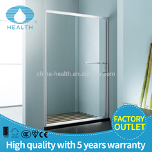 Decorative tempered glass shower partition room with aluminum frame JP2042