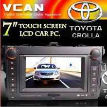 7 inch car pc &touch screen LCD DVD player special for TOYOTA