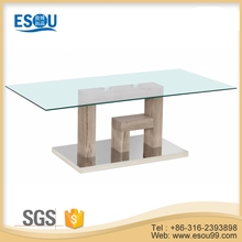 modern glass mdf coffee table