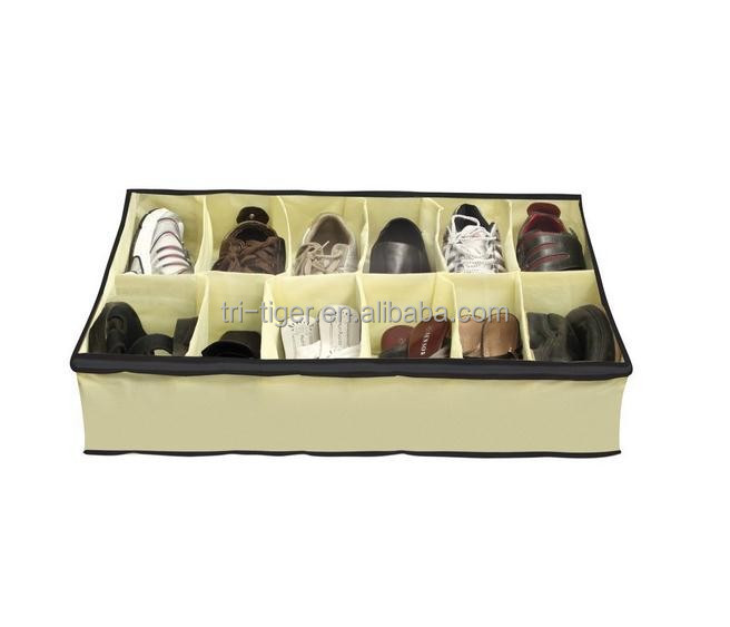 Shoe Store Box Under Bed Shoes Organiser Storage Tidy Fits 12 Pairs Pockets