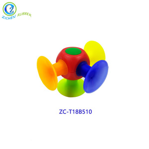 2018 Creative Educational Construction Silicone Sucker Suction DIY Toy for Kids