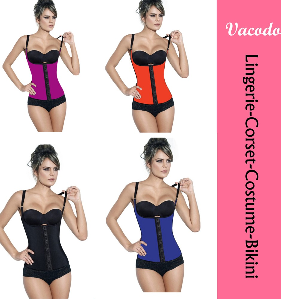 Vacodo #8612 Natural Latex Colorful Tiny Waist Sling Training Cincher Bustier Corset