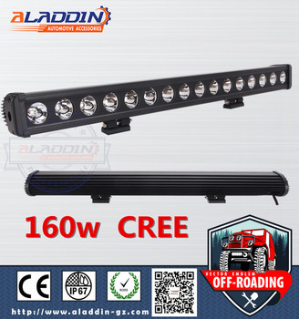 AUTO lighting offroad 160W car accessorries single low led light bar