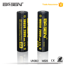 100% Original Basen 18650 li-ion battery 3.7v cell 18650 2800mah 35a lithium battery with high capacity