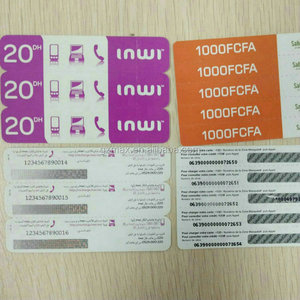 New products on china market branded scratch cards/phone card printing