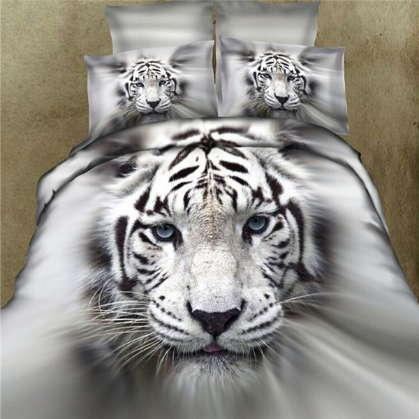 horse tiger panda king size animal printed 3d bedding set