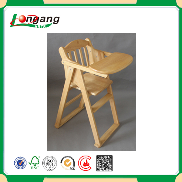 toddler dining chair wood, restaurant feeding chair for baby,solid wood baby high chair