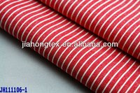 Red striped fabric for shirt and blouse