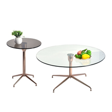 Rose golden Metal Glass Coffee Table and Side Table