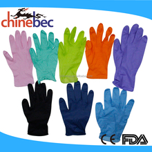 Colorful Powder Free Disposable Examination Nitrile Glove Prices