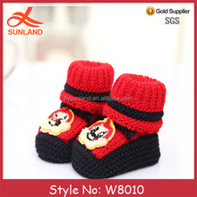 W8010 wholesale new fashion free knitting pattern baby shoes baby musical shoes cheap soft baby shoes